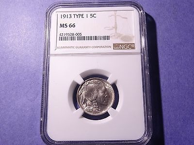 1913 Type I Buffalo Nickel NGC MS 66