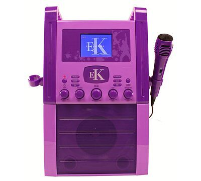 Easy Karaoke EKS515 Karaoke Machine with Screen - Purple