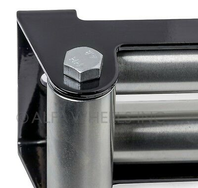 "Super Heavy Duty Winch Roller Fairlead 10"" Universal 4 Way Roller Cable Guide"