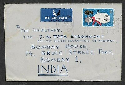 (111cents) Great Britain 1966 Cover to India