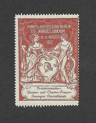 Germany 1912 Bundes-Ausstellung poster stamp MH