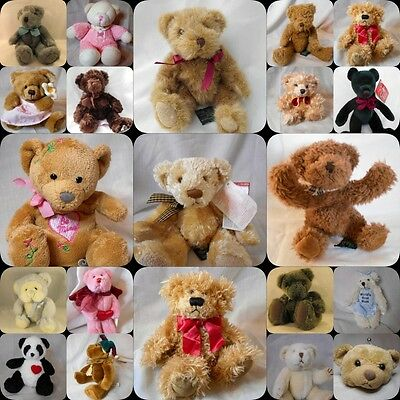 selection of Russ Berrie small Teddy bears
