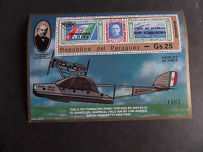 Paraguay 1979 Death Centenary Rowland Hill MS Aircraft MNH UM Unmounted mint