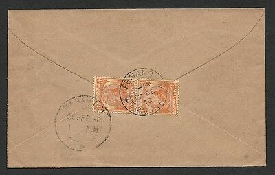 (111cents) Malaya Straits Settlement used in Penang 1940 Cover