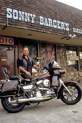 Hells Angels Boss Sonny Barger At His Oakland Bar 8.5x11 Amazing Photo