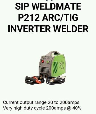 Sip 212 inverter welder arc and tig (requires tig torch)