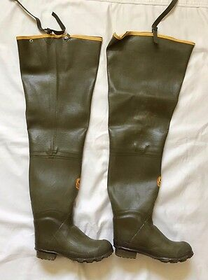 LACROSSE OUTDOORSMAN Rubber Hip Boots Waders Men Size 8 - GREEN TALL