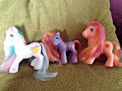 Bundle/Lot of 3 G3 My Little Pony's