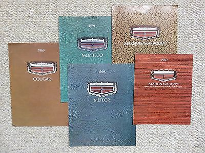 1969 Lincoln-Mercury Deluxe Large Sales Brochures (Rare Canadian Versions)