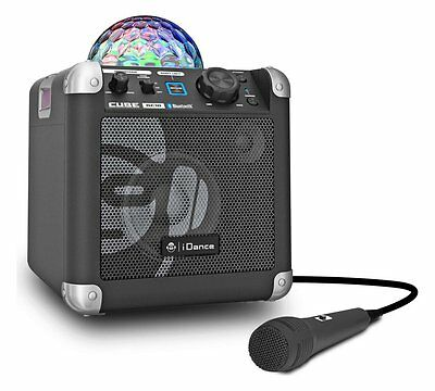 iDance BC100 Disco Lights Bluetooth Karaoke Machine Sing Cube RRP £79.99