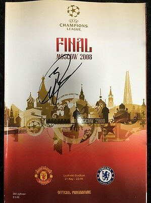 Patrice Evra Signed Manchester United 2008 Champions League Final Programme