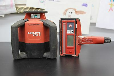 Hilti Pre 3 Rotating Laser Level with Hilti PRA 31 Laser Receiver