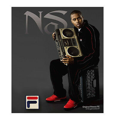 FILA Velour Men's Old School Tracksuit Nas Released Hip Hop Classic