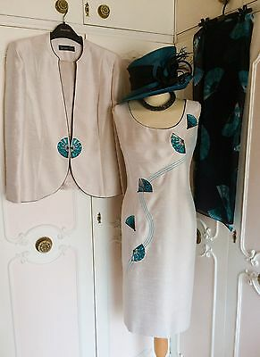 JACQUES VERT Dress Jacket & Scarf Suit Mother of the Bride Wedding Plus Size 20