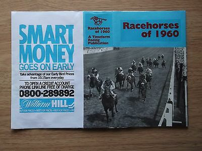 "Timeform ""racehorses Of 1960"" Made Up Dust Jacket"
