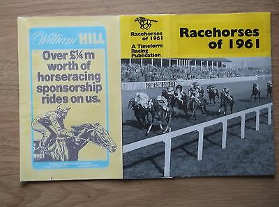 "Timeform ""racehorses Of 1961"" Made Up Dust Jacket"