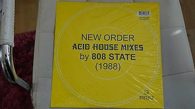 """NEW ORDER Acid House Mixes By 808 STATE 12"""" vinyl Blue Monday Rephlex CAT 806 EP"""