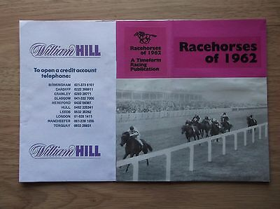 "Timeform ""racehorses Of 1962"" Made Up Dust Jacket"