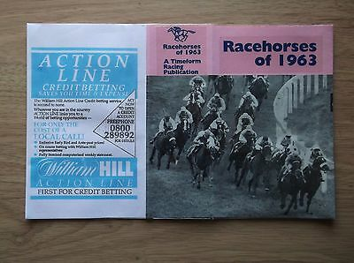 "Timeform ""racehorses Of 1963"" Made Up Dust Jacket"