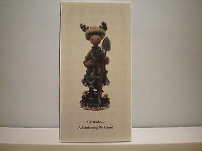 """The Boyds Collection Critter & Co The Moose Troop """"gertrude..a Gardening We Grow"""
