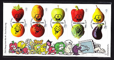 2003 GB Great Britain Phil Stamp First Day Colour Cover FDC Fun Fruit & Veg FDI
