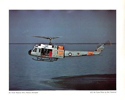 Bell HH-1 UH-1 HUEY USAF RESCUE Helicopter PROMOTIONAL AVIATION ART POSTER PRINT
