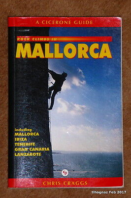 Rock Climbs in Mallorca (Cicerone Guide) by Chris Craggs 2nd edition