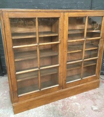 Victorian Style Antique? Bookcase, Shelving Unit, Cupboard, Original Glass Doors