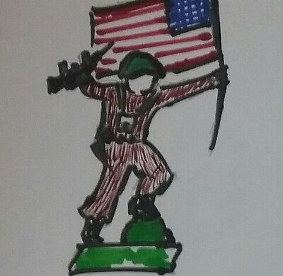 American in combat toy soldiers 60' by PECH Hnos.made in Spain