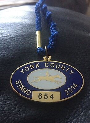 Horse Racing Badge York County Stand 2014  - Excellent Condition