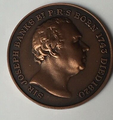 Bronze Medal The Royal Horticultural Society Sir Joseph Banks Commemorative Coin