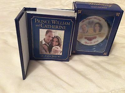 PRINCE WILLIAM & KATE ROYAL WEDDING MINIATURE PLATE & BOOK 2011 Gift Boxed