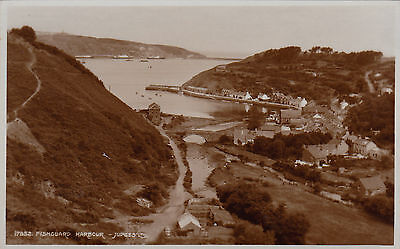 FISHGUARD HARBOUR, PEMBROKESHIRE, WALES : REAL PHOTO POSTCARD (1950s)