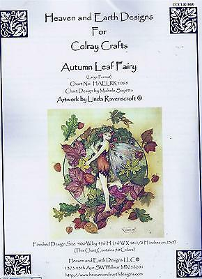 Autumn Leaf Fairy Counted Cross-Stitch Chart Pack - Heaven and Earth Designs