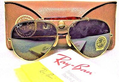 Ray-Ban Nos Vintage B&l Aviator Bravura Tortuga Outdoorsman *tgm New Sunglasses