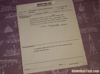 1955 Disneyland Expense Authorization Davy Crockett Museum Wax Figures Stuberghs