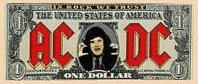 AC/DC bank note WOVEN SEW ON PATCH official merchandise ANGUS