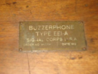 WW1 Buzzerphone Type EE1-A Dated 1919 all Original Intact & in Rare EX Cond!
