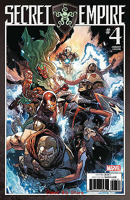 Secret Empire #4 (Of 10) (2017) 1St Printing Scarce 1:25 Leinil Yu Variant Cover