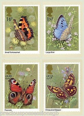 Gb Postcards Phq Cards Mint Full Set 1981 Butterflies Pack 51 10% Off Any 5+