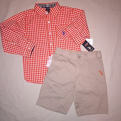 Boys size 6 U.S. Polo Association Shirt Shorts Set of 2 Outfit Nwt