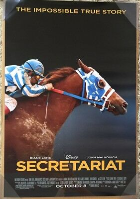 SECRETARIAT MOVIE POSTER 2 Sided ORIGINAL FINAL 27x40 DIANE LANE