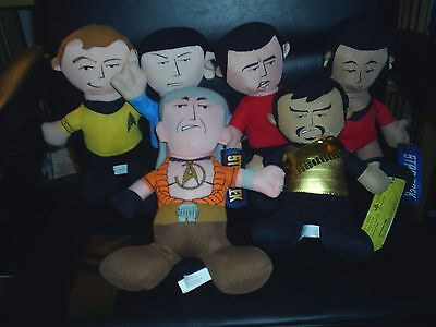 "Star Trek 10"" Kirk, Spock,Uhura,Scotty, Khan,Klingon Stuffed plush Doll toy"