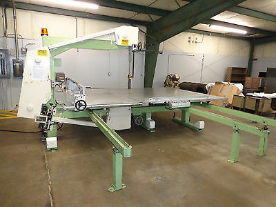 Vertical Foam Cutting Slitter Band Saw & Adjustable Cut Size Rolling Feed Table
