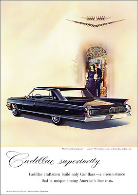 1962 Cadillac Fleetwood Sixty Special Retro A3 Poster Print From Advert 1962