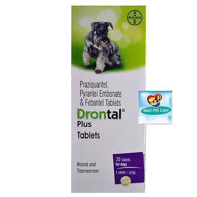 Drontal Plus Genuine Bayer Germany Manufactured Product For Dog -10 Tablets