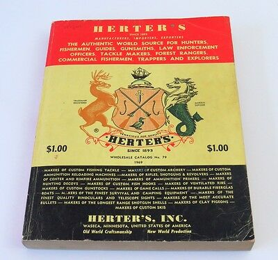 1969 Vintage Herter's Catalog No 79, Fishing Tackle, Archery, Hunting, Officers