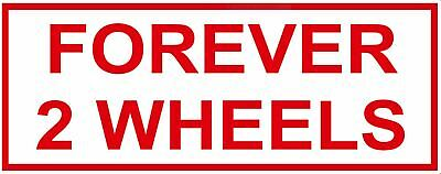 "HELLS ANGELS Support 81 Sticker Decal ""FOREVER 2 WHEELS"" Red & White"