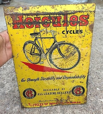 Vintage Hercules Bicycle Adv. Tin Sign Board