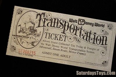 Oct 1971 Walt Disney World Adult TRANSPORTATION TICKET Vintage Original ST308215